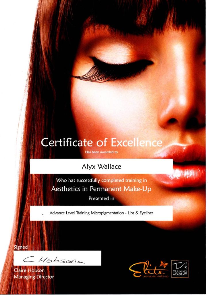 Advanced Level Training for Lip Blush and Eyeliner Certificate
